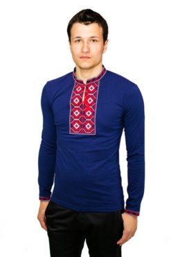 Чоловіча вишита футболка «Ромби» RМ-614 - РедМак 612fa0f0c9437
