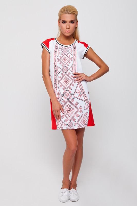 Жіноче стильне плаття з елементом вишивки RM-1008 - РедМак 14f44b00550bb