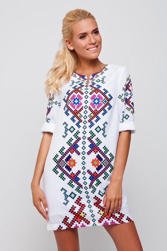 Жіноче стильне плаття з елементом вишивки RM-1062 - РедМак 3bda8d3384080
