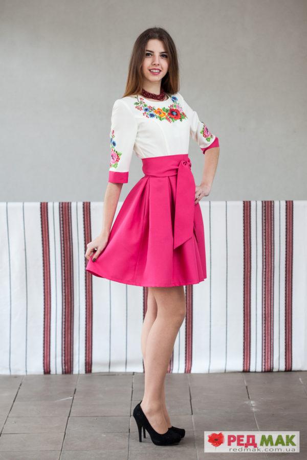 Плаття кольору фуксії з кишенями
