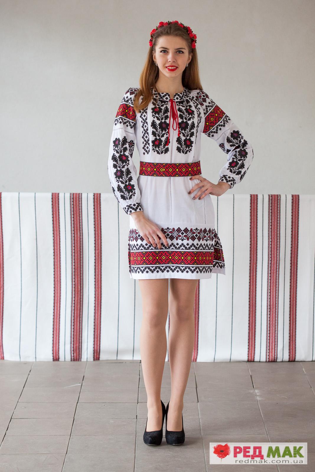 Сукня з вишивкою у традиційному борщівському стилі 612751afc42ba